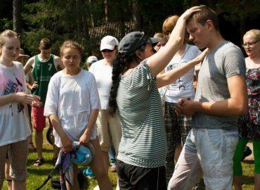 Krikšto šventė prie Juodlės ežero
