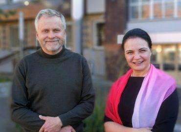 Aras Petronaitis ir Anželika Krikštaponienė