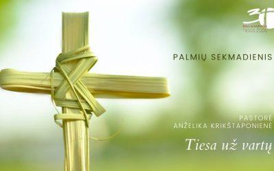 Pamokslas | 2021 03 28 | Tiesa už vartų | Palmių sekmadienis